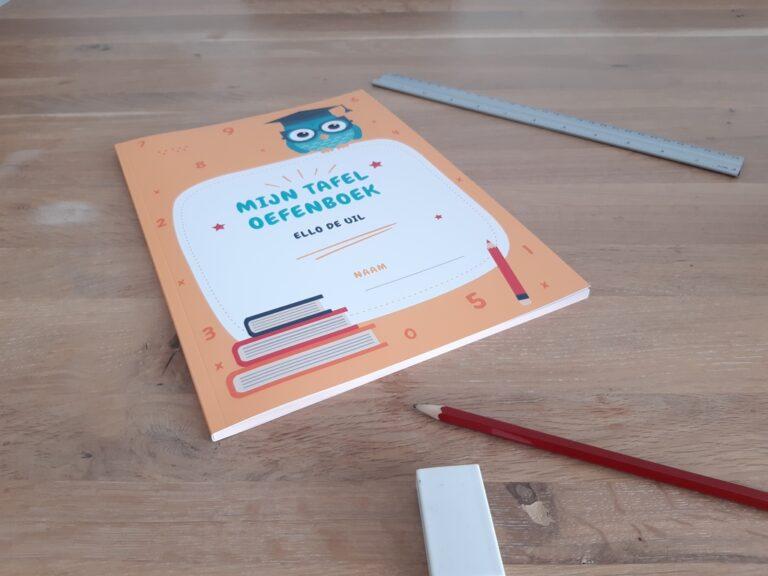 Tafels leren met Mijn tafel oefenboek