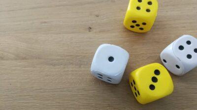 Maaltafel spel tafeldobbel